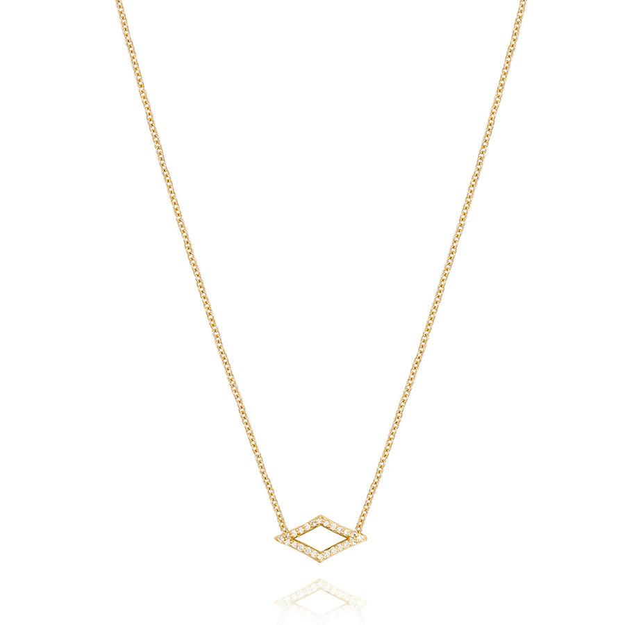 Tacori Yellow Gold Diamond Chevron Pendant The Ivy Lane Necklace