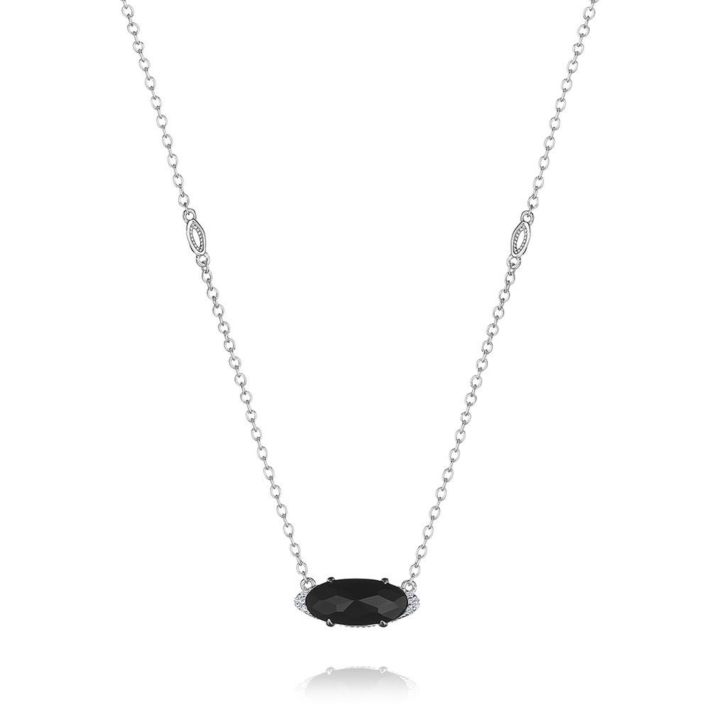 Tacori Black Onyx & Diamond Horizon Shine Oval Pendant Necklace