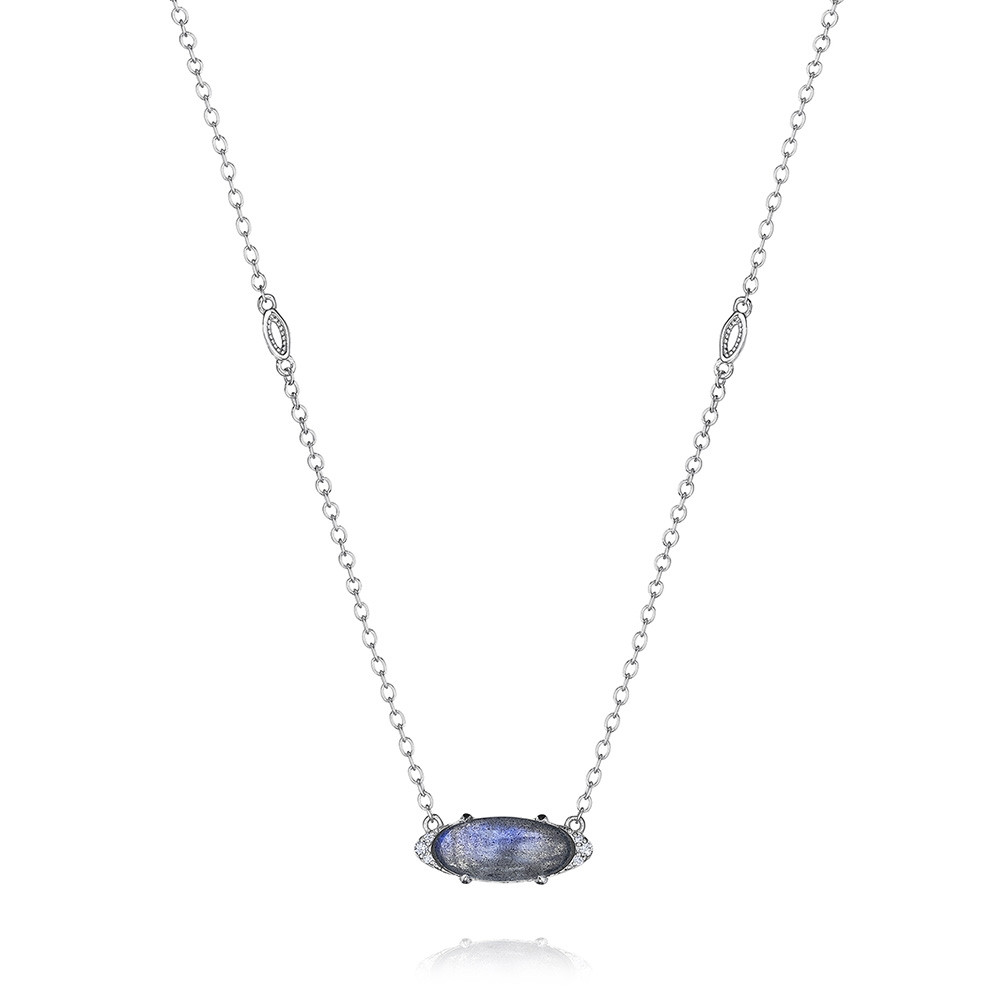 Tacori Labradorite & Diamond Horizon Shine Oval Pendant Necklace