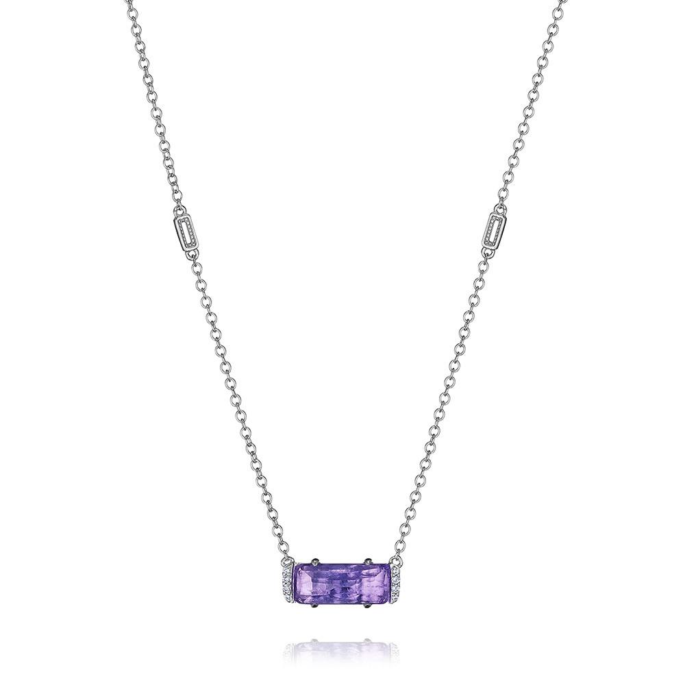 Tacori Amethyst Emerald & Diamond Horizon Shine Pendant Necklace