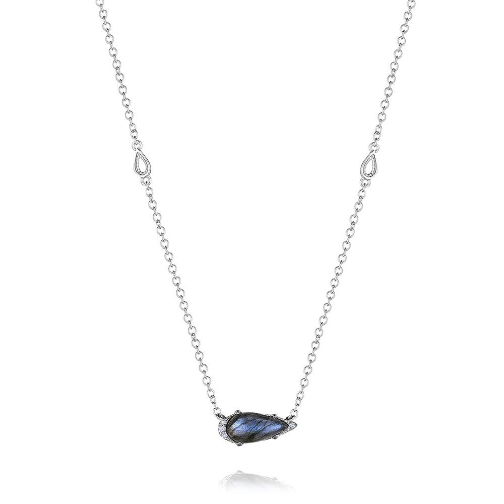 Tacori Pear Labradorite & Diamond Horizon Shine Necklace