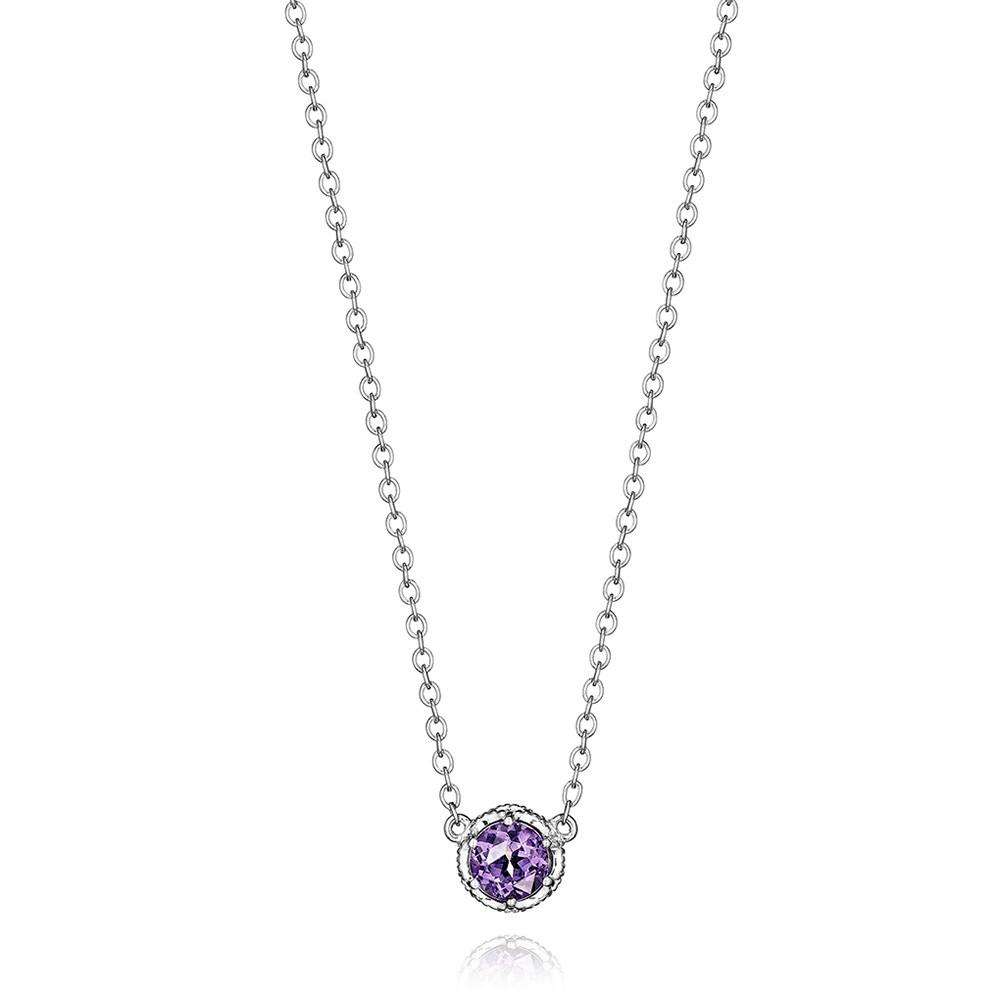 Tacori Amethyst Round Lilac Blossoms Pendant Necklace