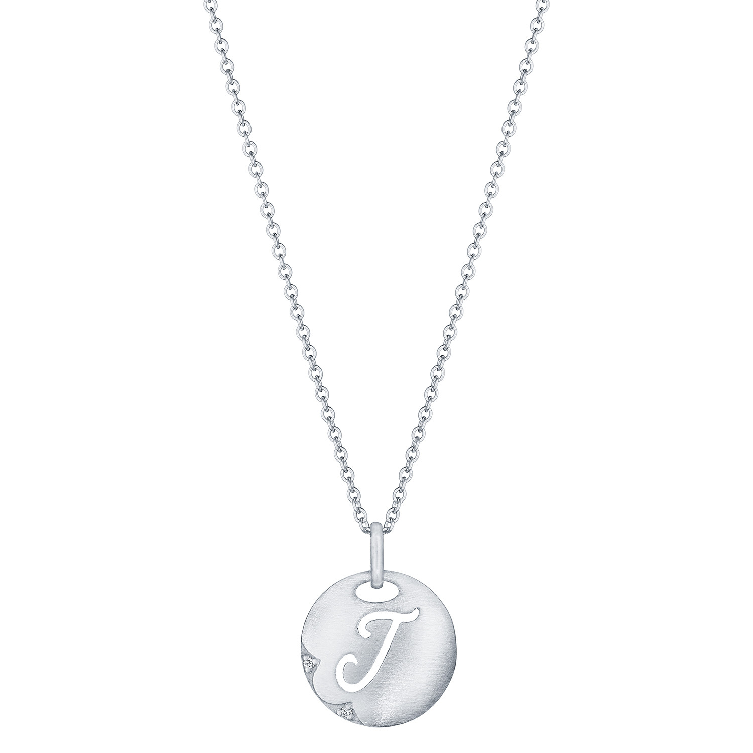 Tacori Love Letters Initial J Necklace in Sterling Silver