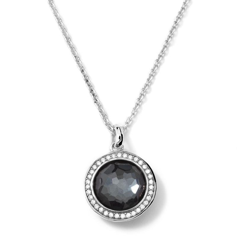 IPPOLITA Silver Lollipop Hematite and Diamond Necklace