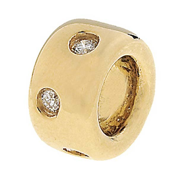 Aaron Basha Spacer 18kt Yellow Gold with Diamonds Charm