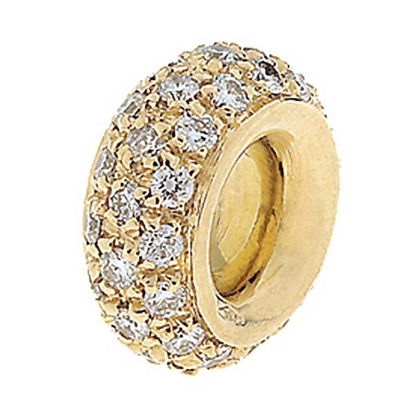 Aaron Basha Spacer 18kt Yellow Gold with Full Pave Diamonds .48ctw