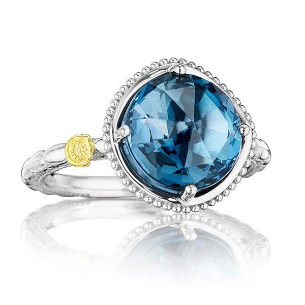 Tacori 18K925 Island Rains London Blue Topaz Large Ring