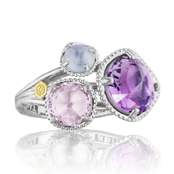 Tacori Lilac Blossoms Multi Gemstone Amethyst Sterling Silver Ring