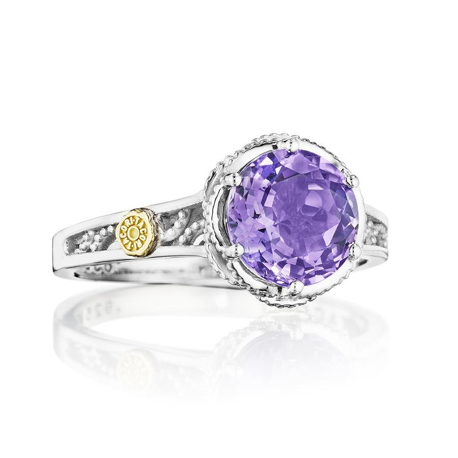 Tacori Amethyst Petite Lilac Blossoms Crescent Ring