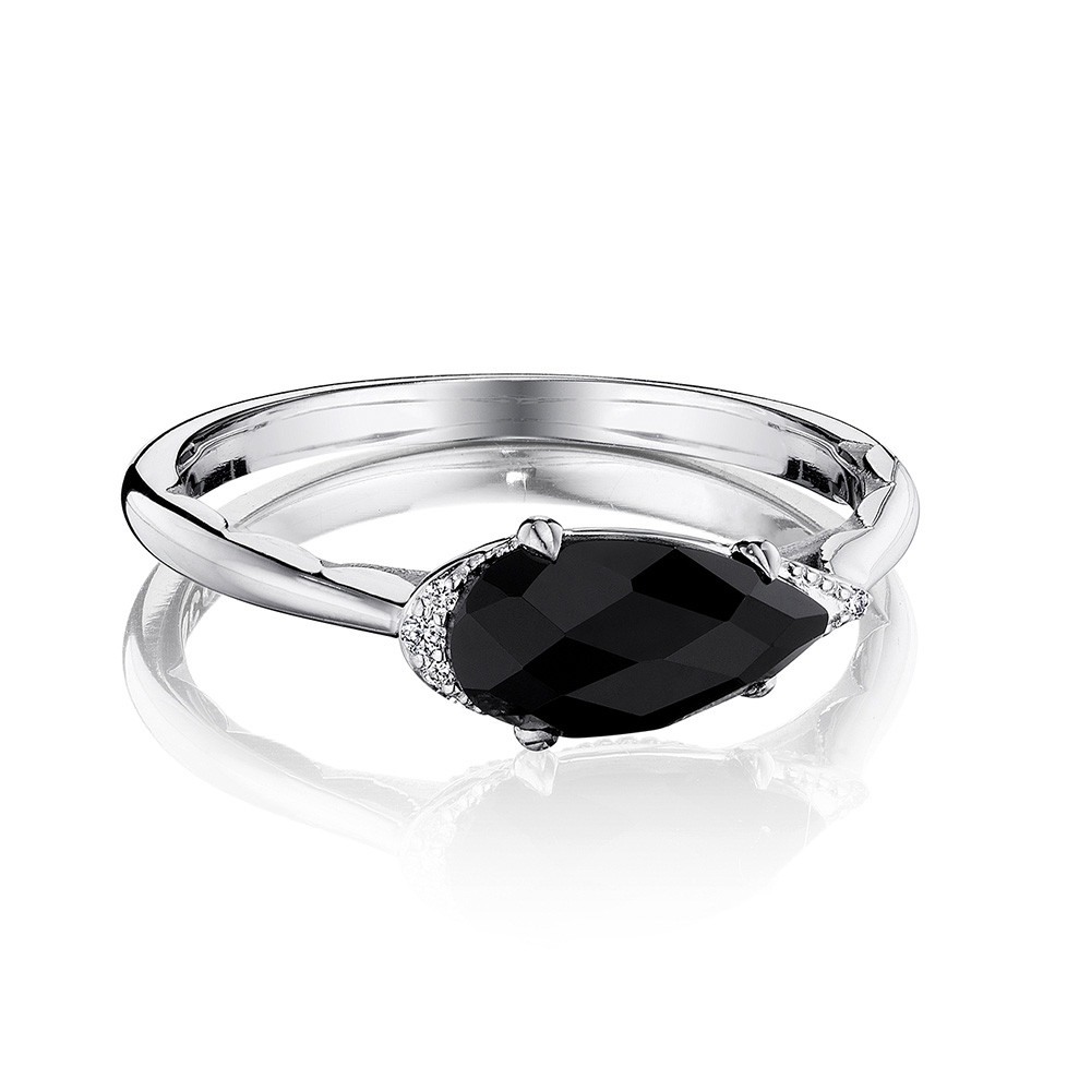 Tacori Pear Black Onyx & Diamond Horizon Shine Ring