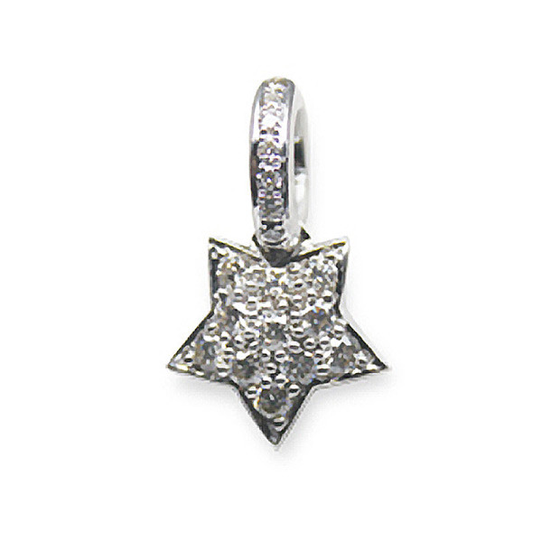 Aaron Basha Star Small 18kt White Gold with Diamonds