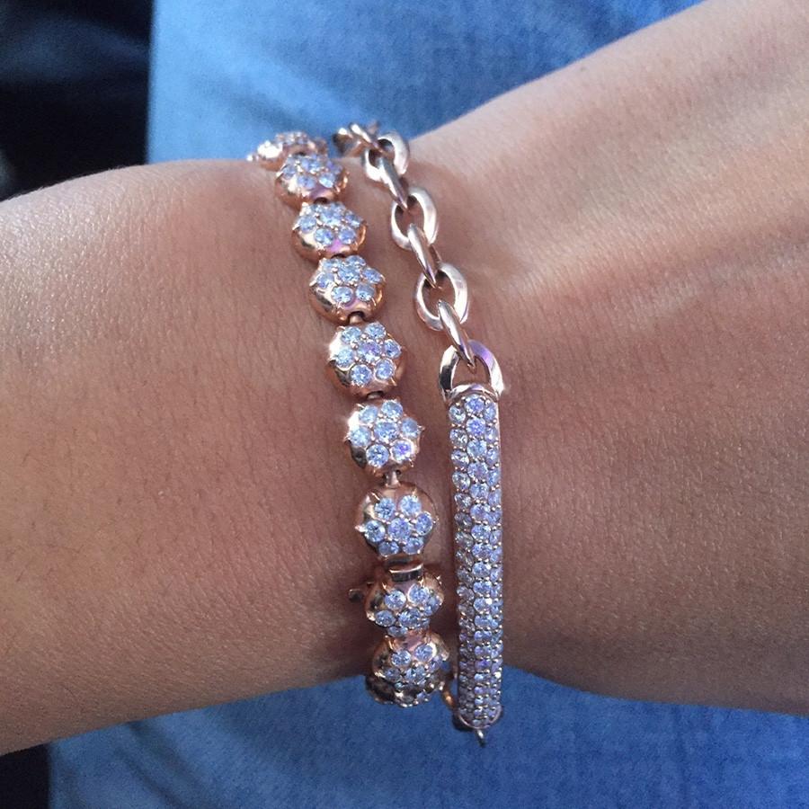 Carbon & Hyde Pantheon Diamond Station Bracelet on Model