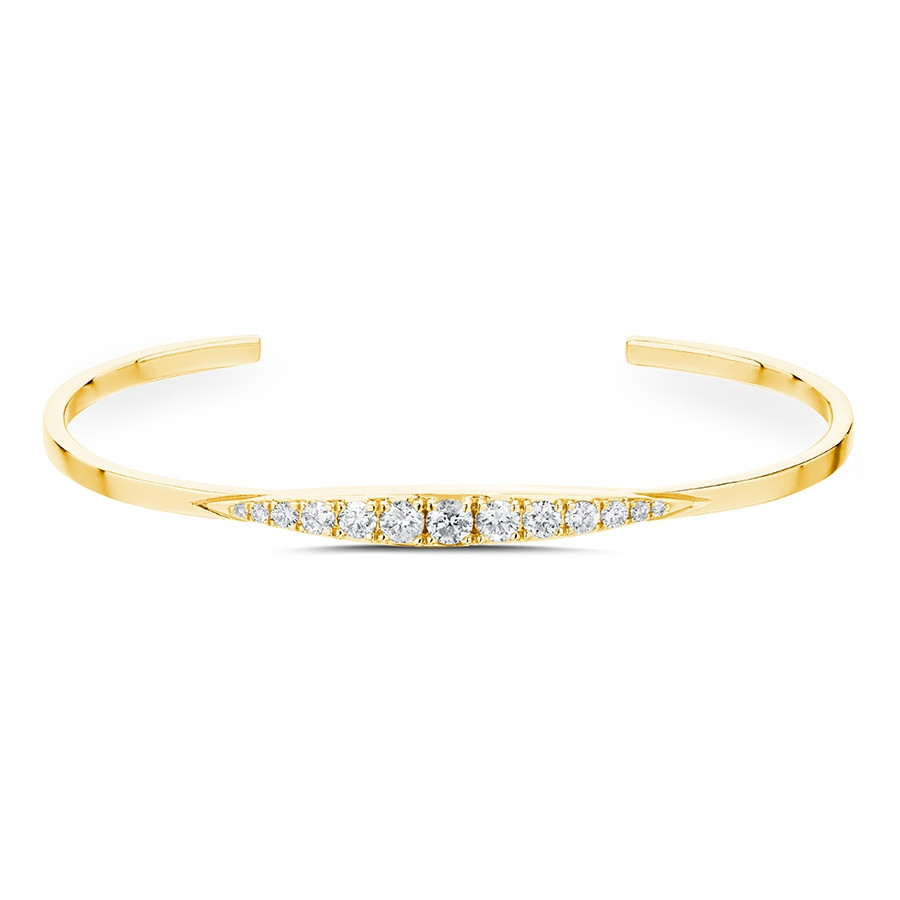 Carbon & Hyde Ambrose Yellow Gold Diamond Bangle