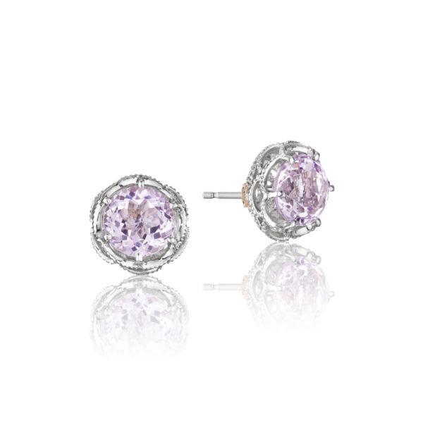 Tacori 18K925 Blushing Rose Sterling Silver Rose Amethyst Earrings