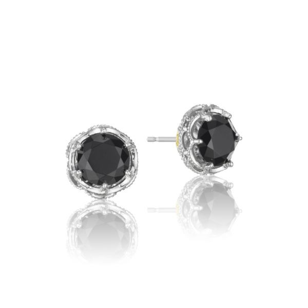 Tacori Sterling Silver stud earrings with black onyx