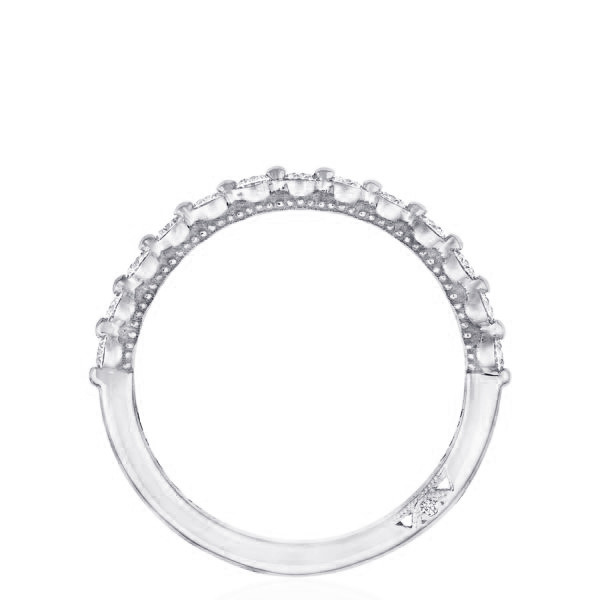Tacori Sculpted Crescent 2 Prong Diamond Band side view
