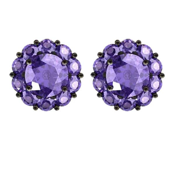 Color My Life Tanzinite Stud Earrings