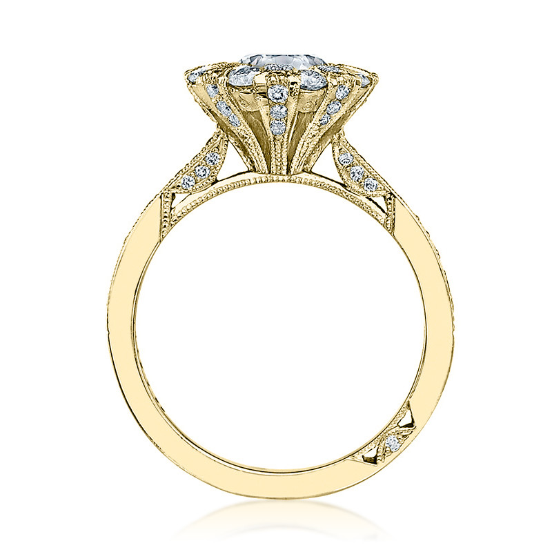 Tacori 2642RD6.5 Yellow Gold Bloom Engagement Ring Simply Tacori Setting Edge View