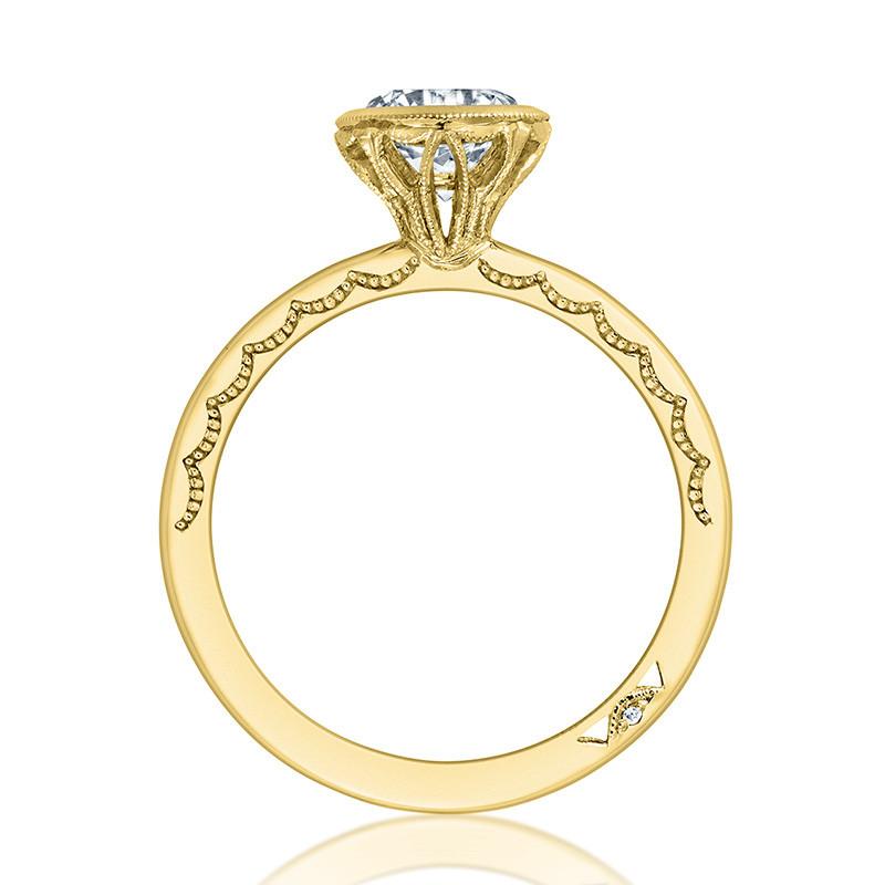 Tacori 300-2RD7 Yellow Gold Bezel Set Engagement Ring Starlit Setting Edge View