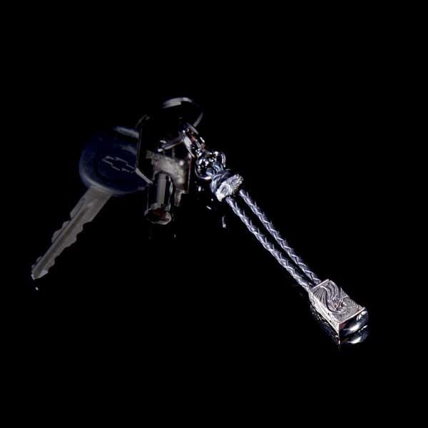 William Henry Silver Dragon Bead Key Chain