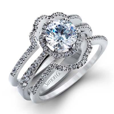 Simon G TR468-B Passion Pave Contour Wedding Ring
