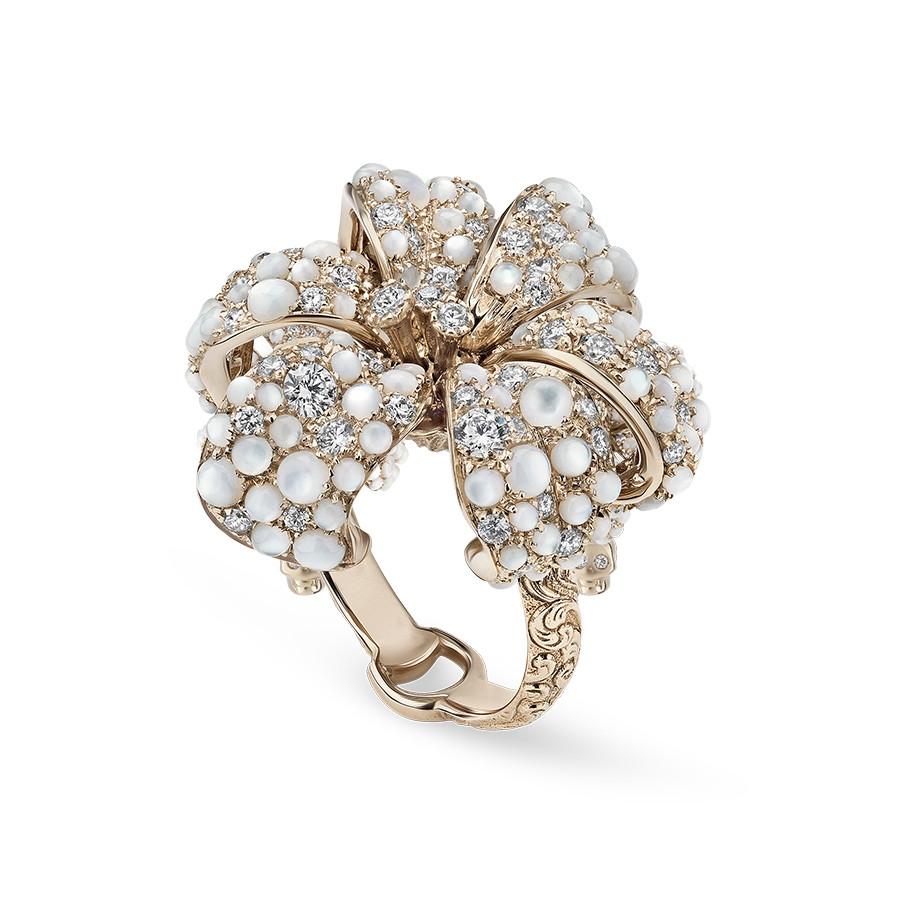 Gucci Small Flower Gemstone Ring