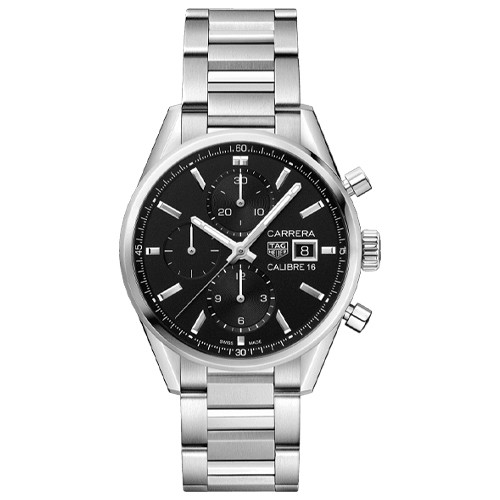 Tag Heuer Carrera 41mm Black Chronograph Watch Main Image