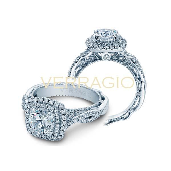 Verragio Venetian Double Cushion Halo Twist Shank Engagement Setting