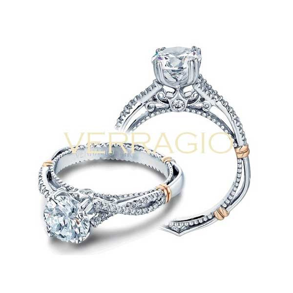 Verragio Parsian Solitaire with Pave Engagement Ring