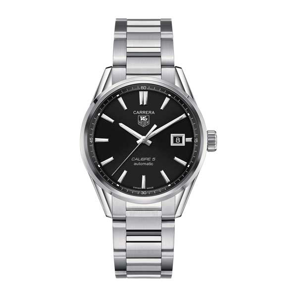 Tag Heuer Carrera Calibre 5 Automatic Black 39mm Watch