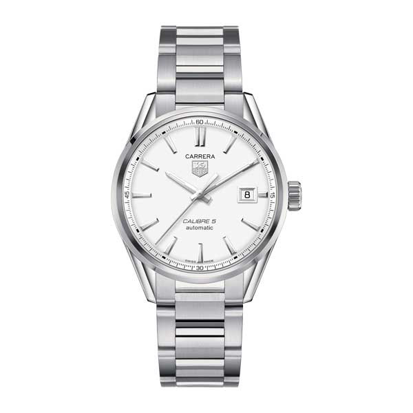 Tag Heuer Carrera Calibre 5 Automatic White 39mm Watch