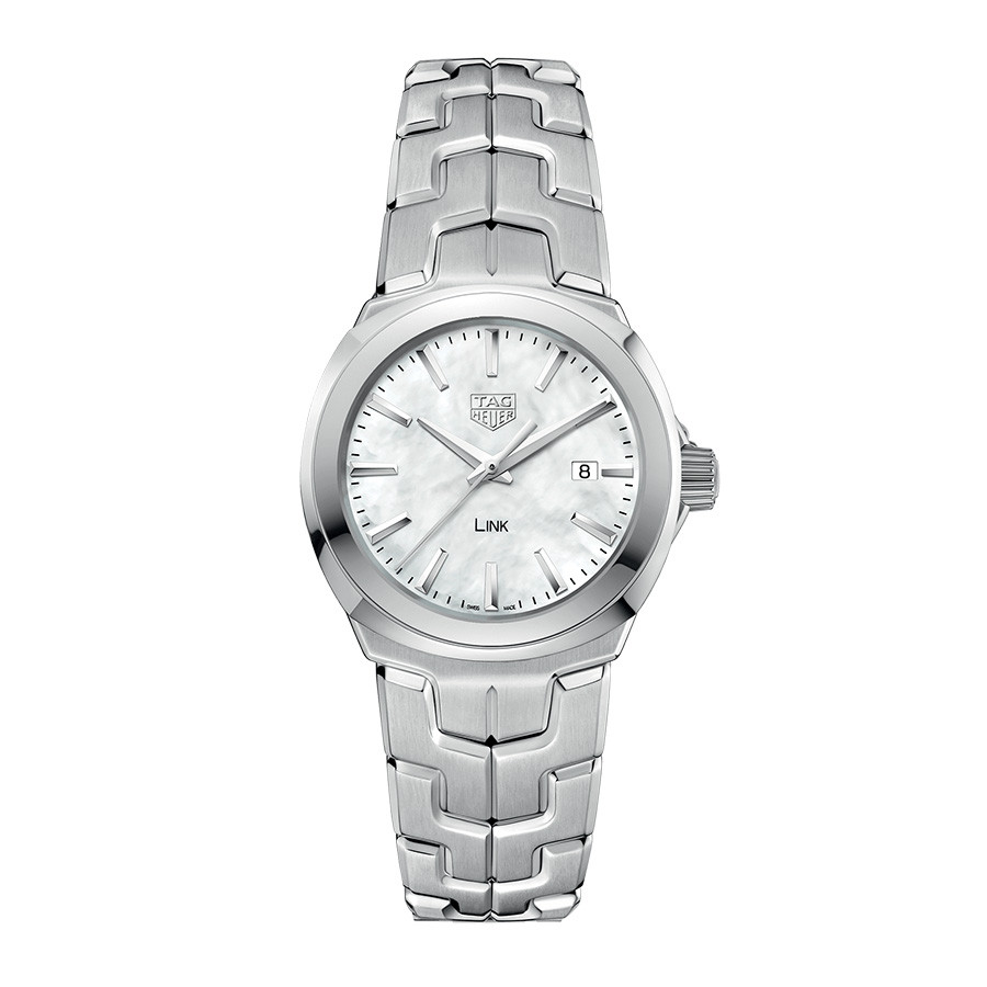 Tag Heuer White Mother of Pearl Dial Link Watch