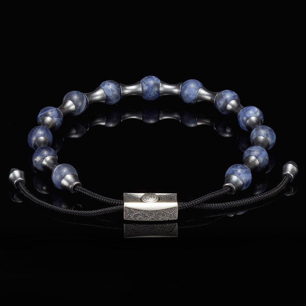 William Henry Adjustable Sodalite Summit Bead Bracelet Front View
