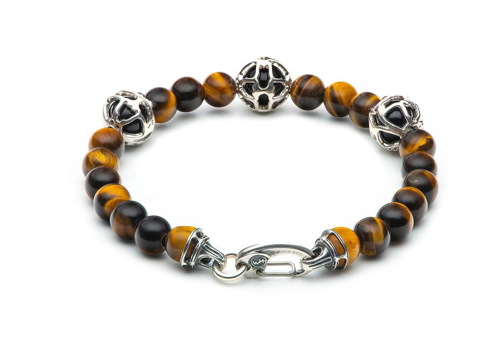 William Henry Embrace Sunrise Black Onyx & Tiger Eye Bracelet