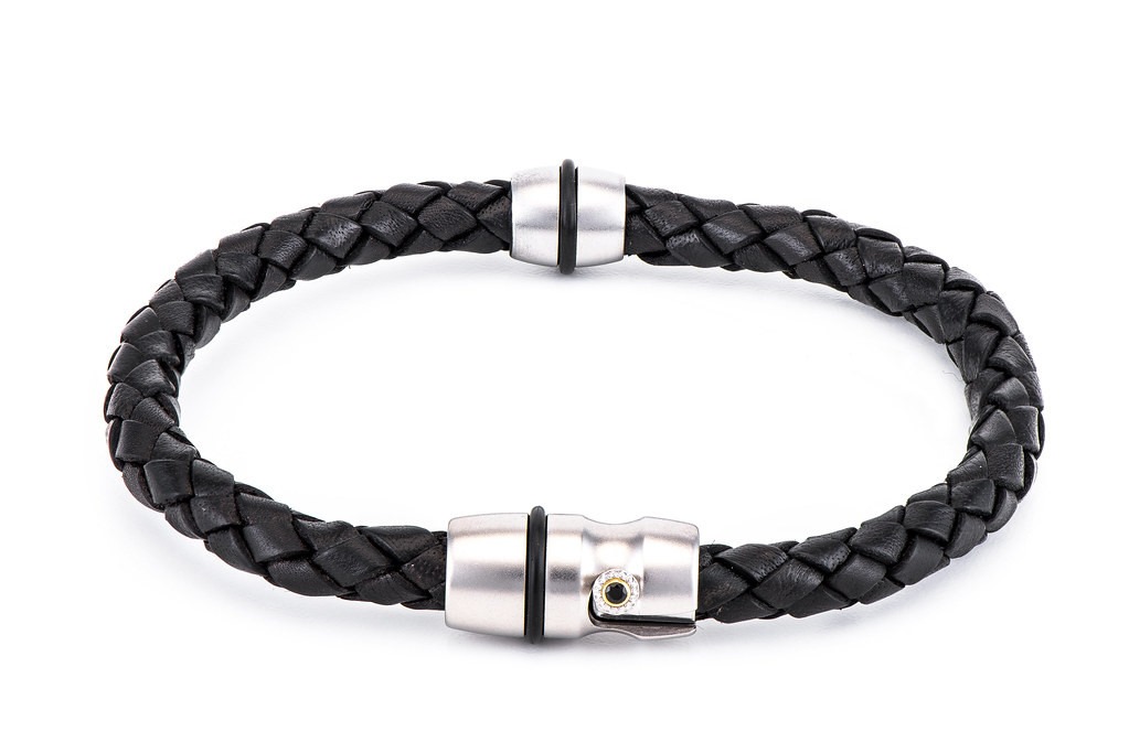 William Henry LB1-S Braided Leather Bracelet