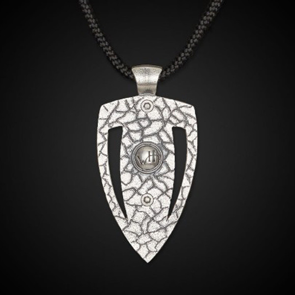 William Henry Arrow Head Mokume Amp Necklace Back View