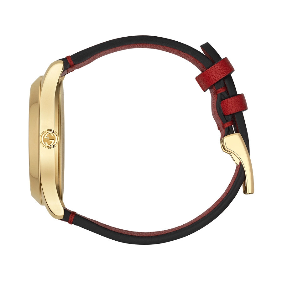 Gucci Red & Yellow Gold Butterfly G-Timeless Limited Edition Watch Side View