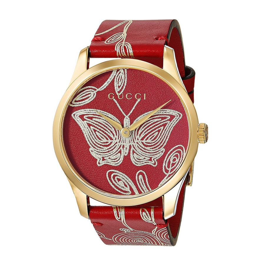 Gucci Red & Yellow Gold Butterfly G-Timeless Limited Edition Watch