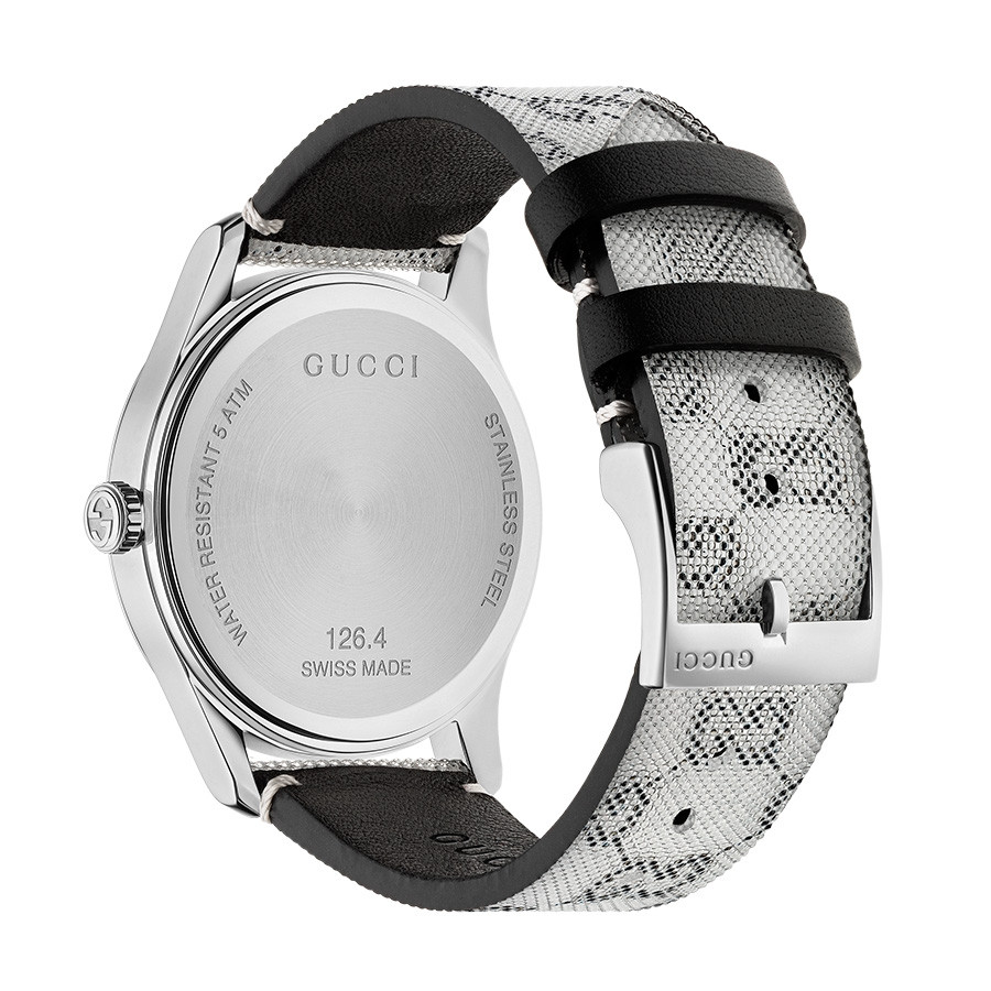 Gucci G-Timeless Grey Hologram Watch - 38mm Silver Case BACK