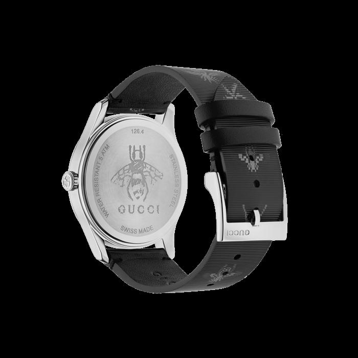 Gucci G-Timeless Black Hologram Watch - 38mm Steel Case back