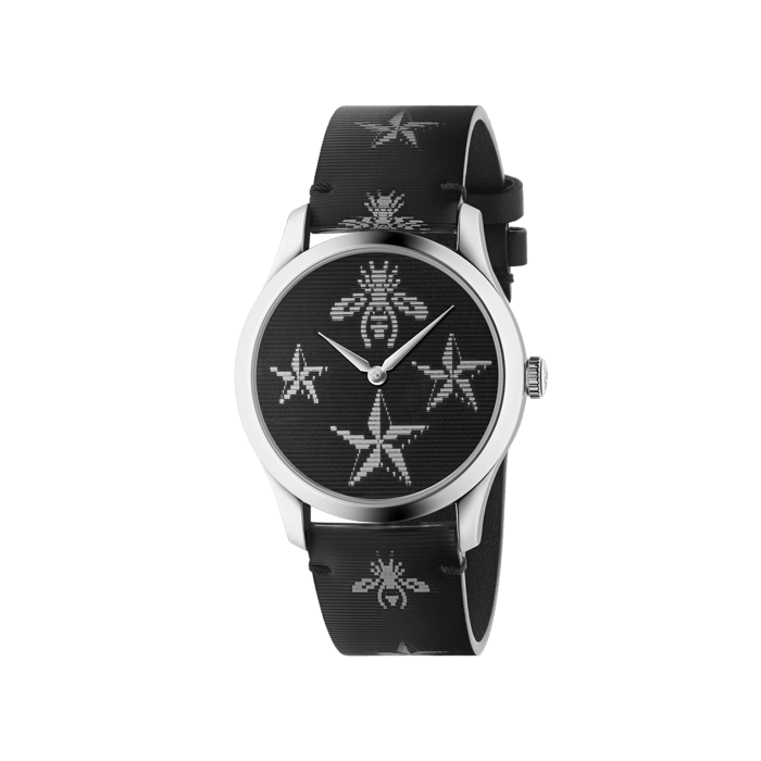 Gucci G-Timeless Black Hologram Watch - 38mm Steel Case front