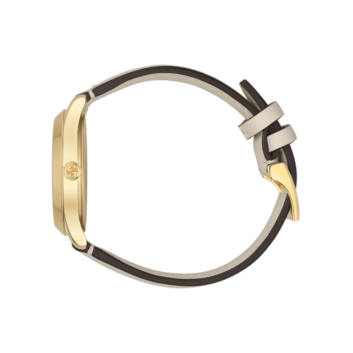 Gucci G-Timeless 38mm Yellow Gold and Nylon Bee Watch side