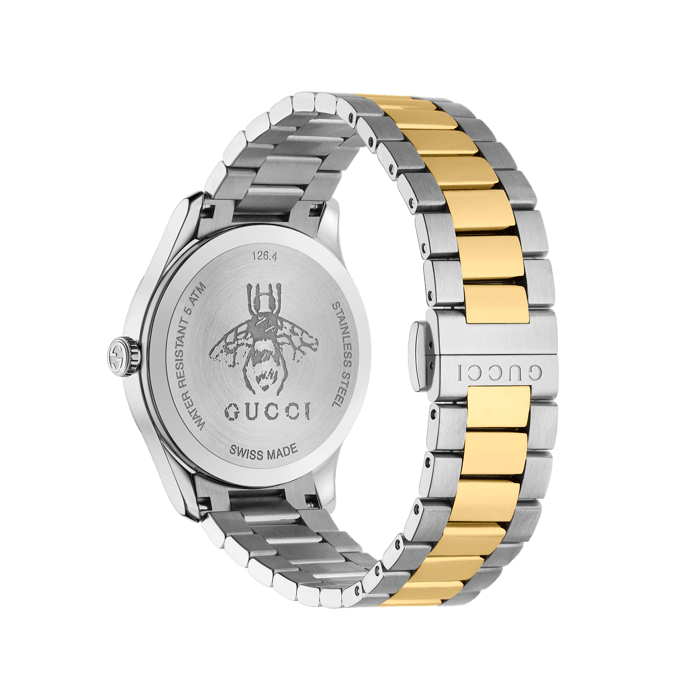 Gucci G-Timeless 38mm Two Toned Bee Watch Angle