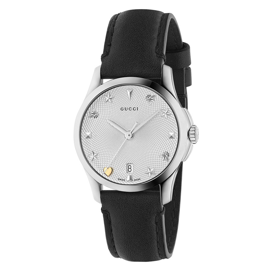 Gucci Stainless Steel House Motif Dial G-Timeless Watch