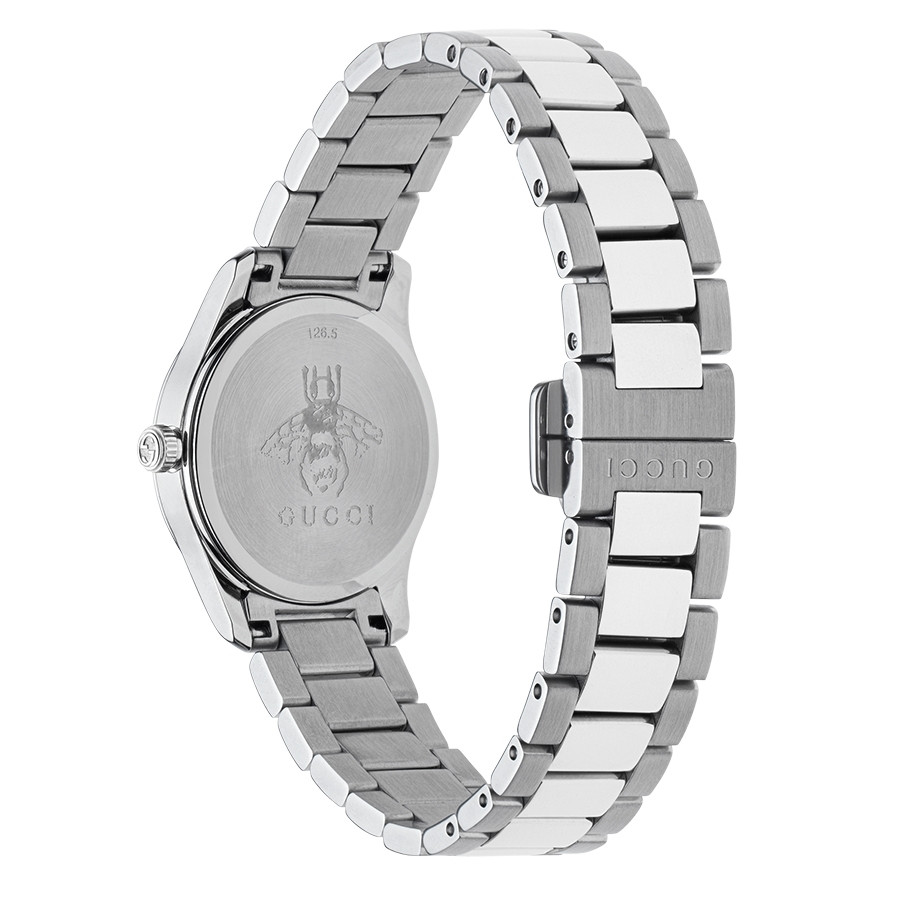 Gucci 27mm Stainless Steel Feline Head G-Timeless Motif Dial Watch Angle View
