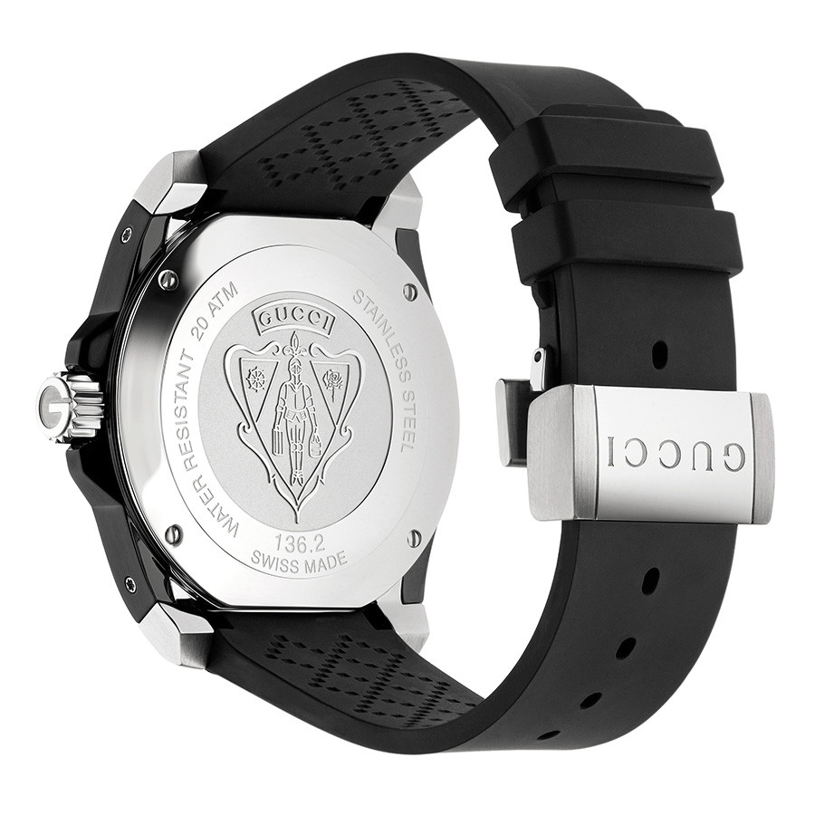Gucci 45mm Matte Black Dial Dive Watch Angle View