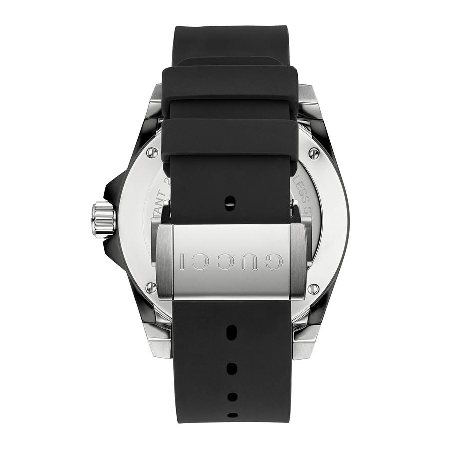 Gucci 45mm Matte Black Dial Dive Watch Back View