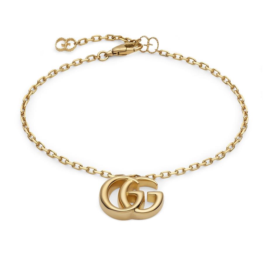 Gucci GG Running Yellow Gold Charm Bracelet | J.R. Dunn Jewelers