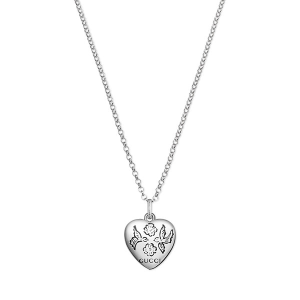 Gucci Blind For Love Heart Pendant Necklace