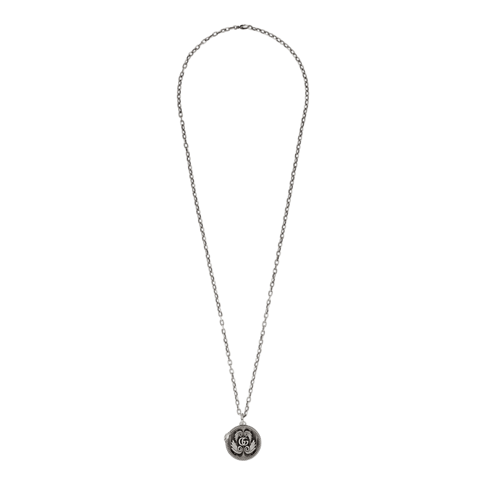 Gucci GG Sterling Silver Snake Necklace